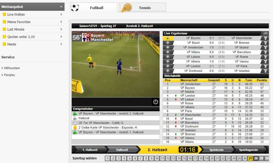 Screenshot Interwetten Virtual Sports