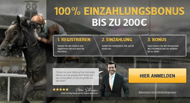 Screenshot RaceBets Registrierung