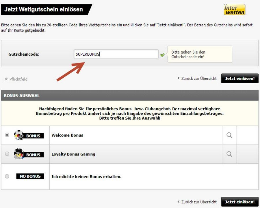 Screenshot Interwetten Bonuscode