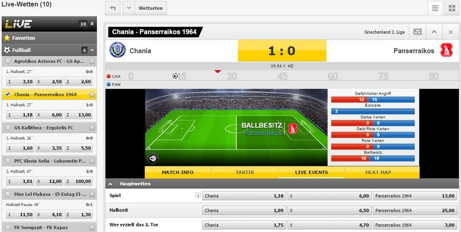 Screenshot Interwetten Livewetten