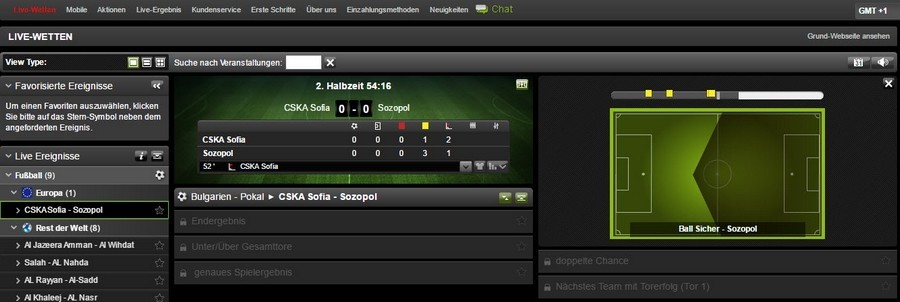 Screenshot ironbet Livewetten