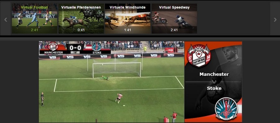 Screenshot ironbet Virtual Sports