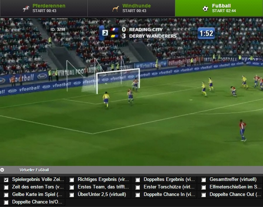 Screenshot NetBet Virtual Sports