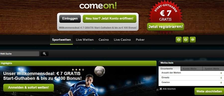 Screenshot_ComeOn_Startseite_160119