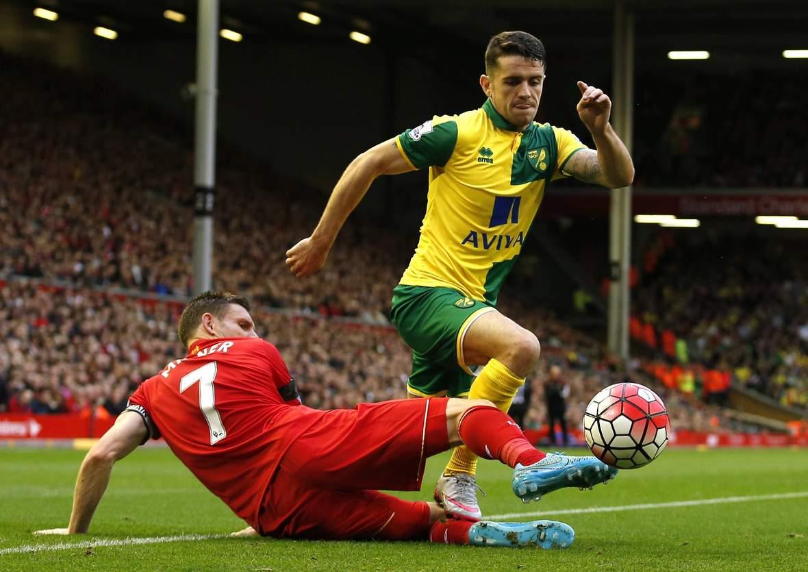 Setzt sich Milner gegen Brady durch? Jetzt auf Norwich gegen Liverpool wetten