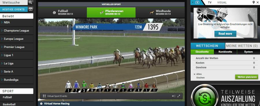betcart Virtueller Sport