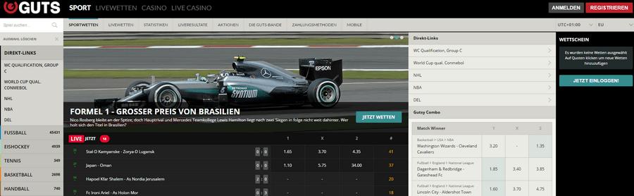 Homepage von Guts