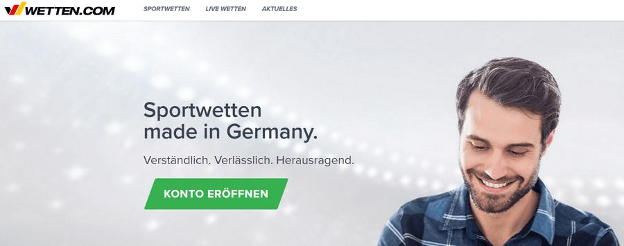 Startseite von Wetten.com