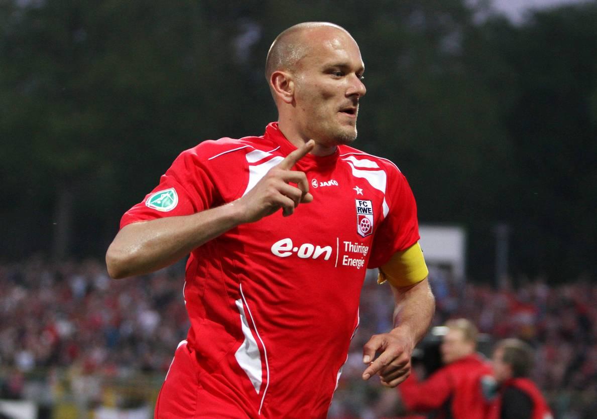 Rudi Zedi war zwischenzeitlich Kapitän von Rot-Weiß Erfurt.