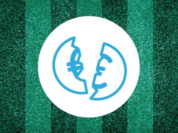 Symbolbild Schulden durch Sportwetten