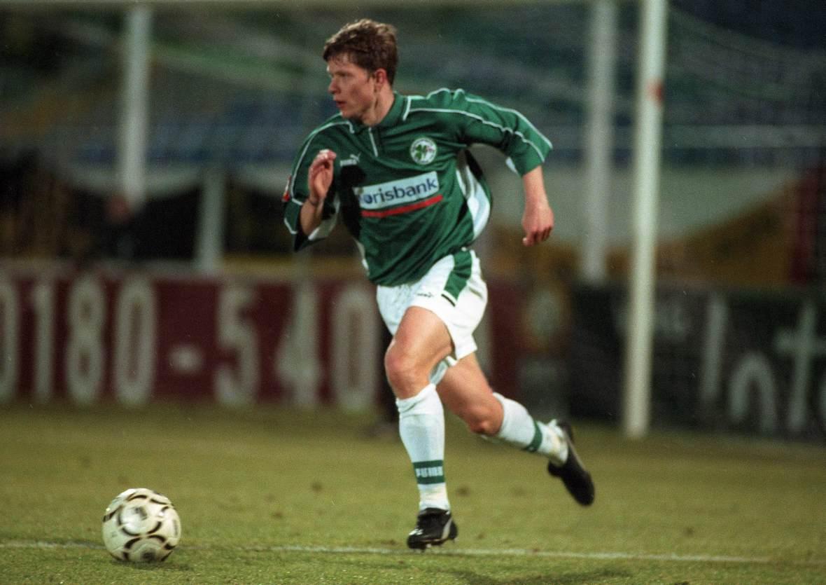 Daniel Felgenhauer am Ball für die SpVgg Greuther Fürth
