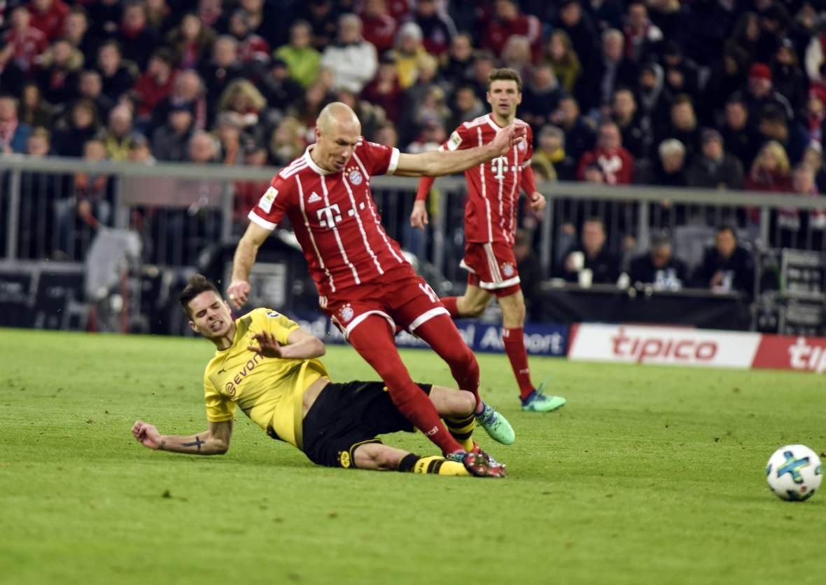 Julian Weigl gegen Arjen Robben. Jetzt auf die Partie BVB gegen FC Bayern wetten.