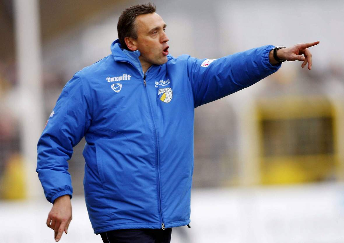 Valdas Ivanauskas gibt Anweisungen.