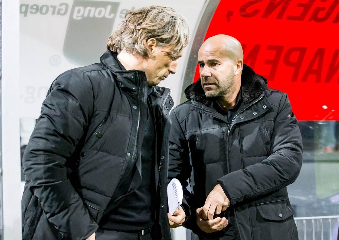 Rob Maas und Peter Bosz als Trainer von Vitesse Arnheim