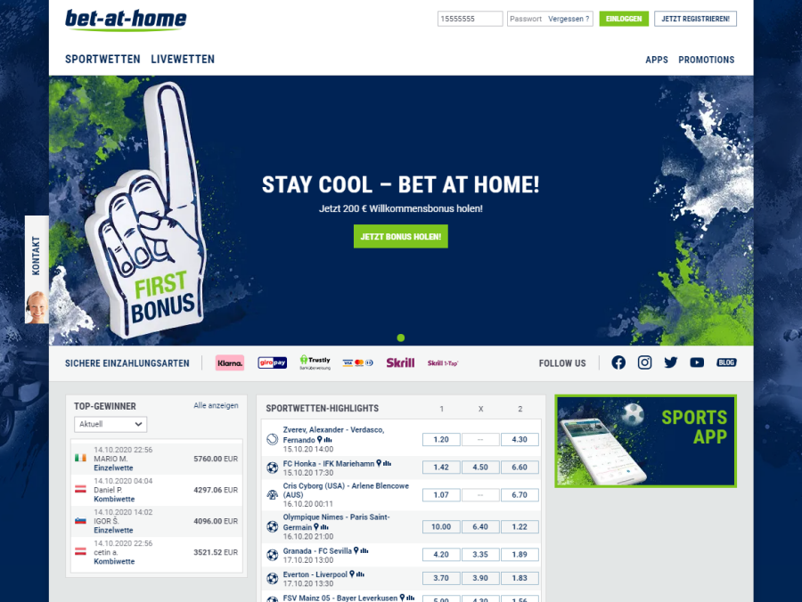 bet-at-home Startseite