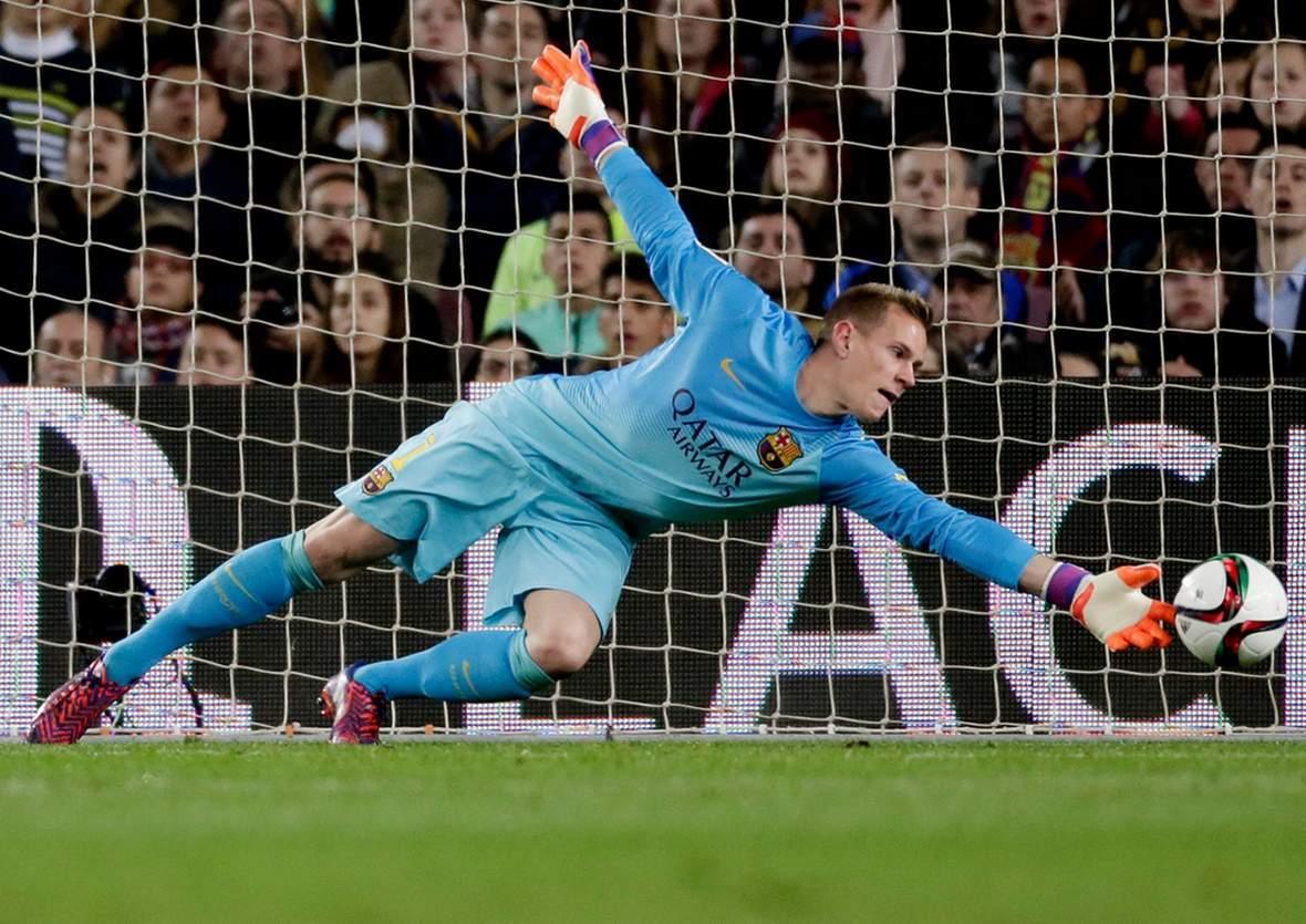 Hält ter Stegen wieder? Jetzt auf AS Rom gegen Barcelona wetten.