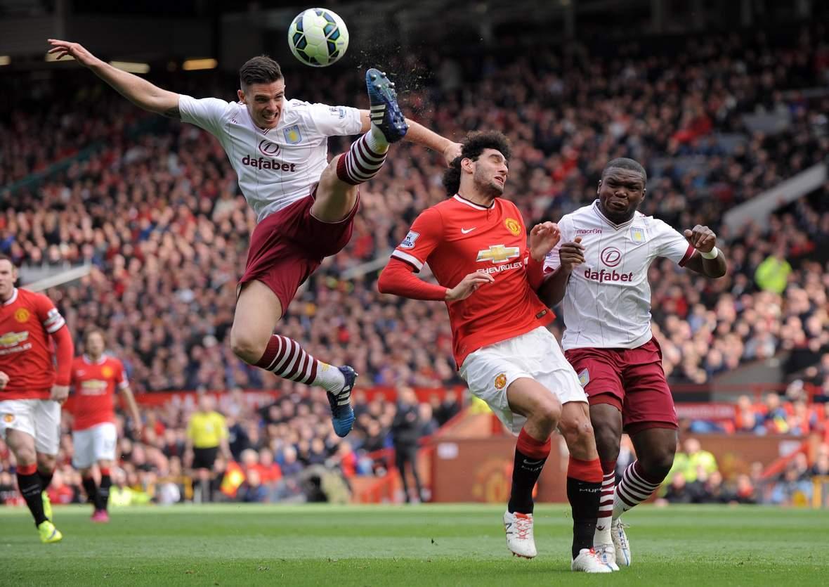 Setzt sich Clark gegen Fellaini durch? Jetzt auf Aston Villa gegen Manchester United wetten