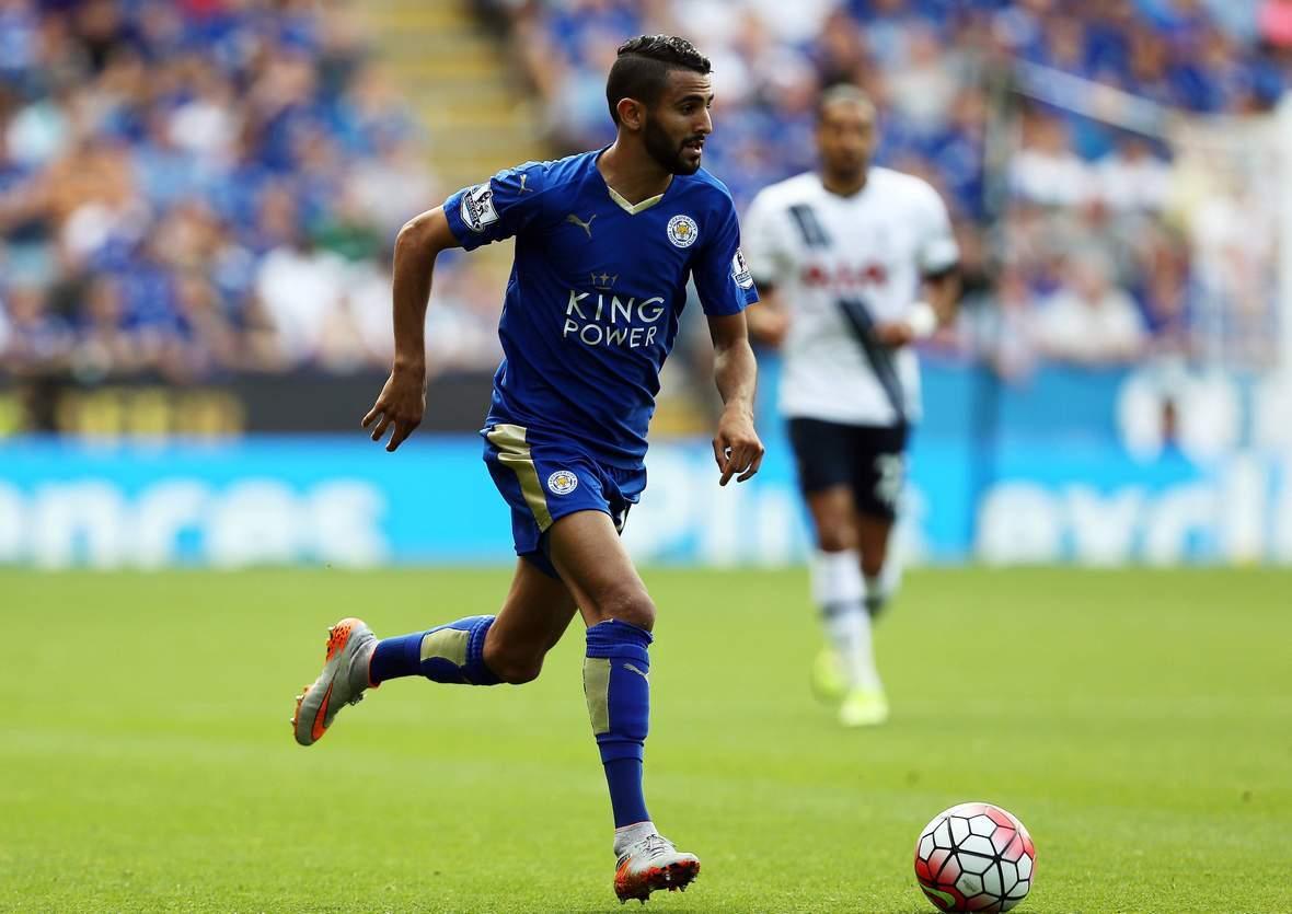 Enteilt Mahrez wieder seinen Gegner? Unser Tipp: Leicester gewinnt gegen Norwich ©Imago