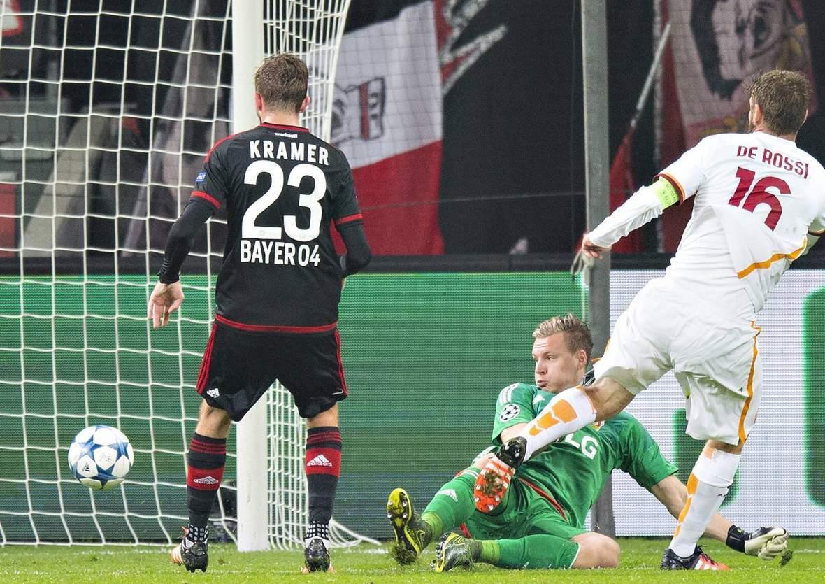 Trifft de Rossi wieder gegen Leno? Unser Wett Tipp: AS Rom gegen Bayer Leverkusen endet unentschieden