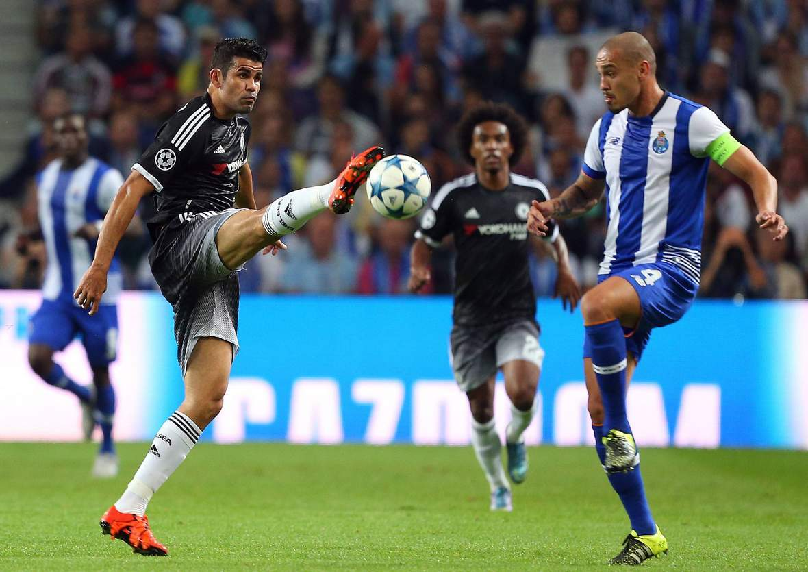 Setzt sich Diego Costa gegen Maicon durch? Jetzt auf Chelsea vs FC Porto wetten