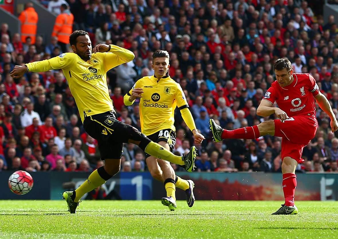 Trifft Milner wieder? Unser Tipp; Aston Villa gewinnt gegen Liverpool