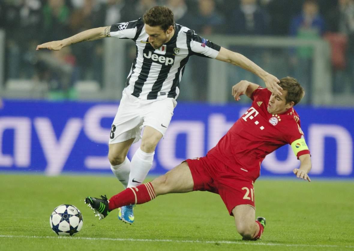 Setzt sich Lahm gegen Marchisio durch? Unser Tipp: Bayern gewinnt nicht gegen Juventus