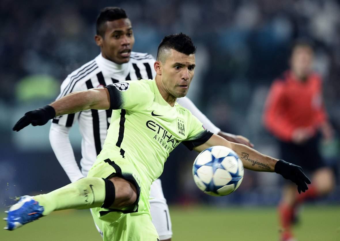 Sergio Agüero beim Torschuss. Unser Tipp: Manchester City gewinnt gegen Kiew.