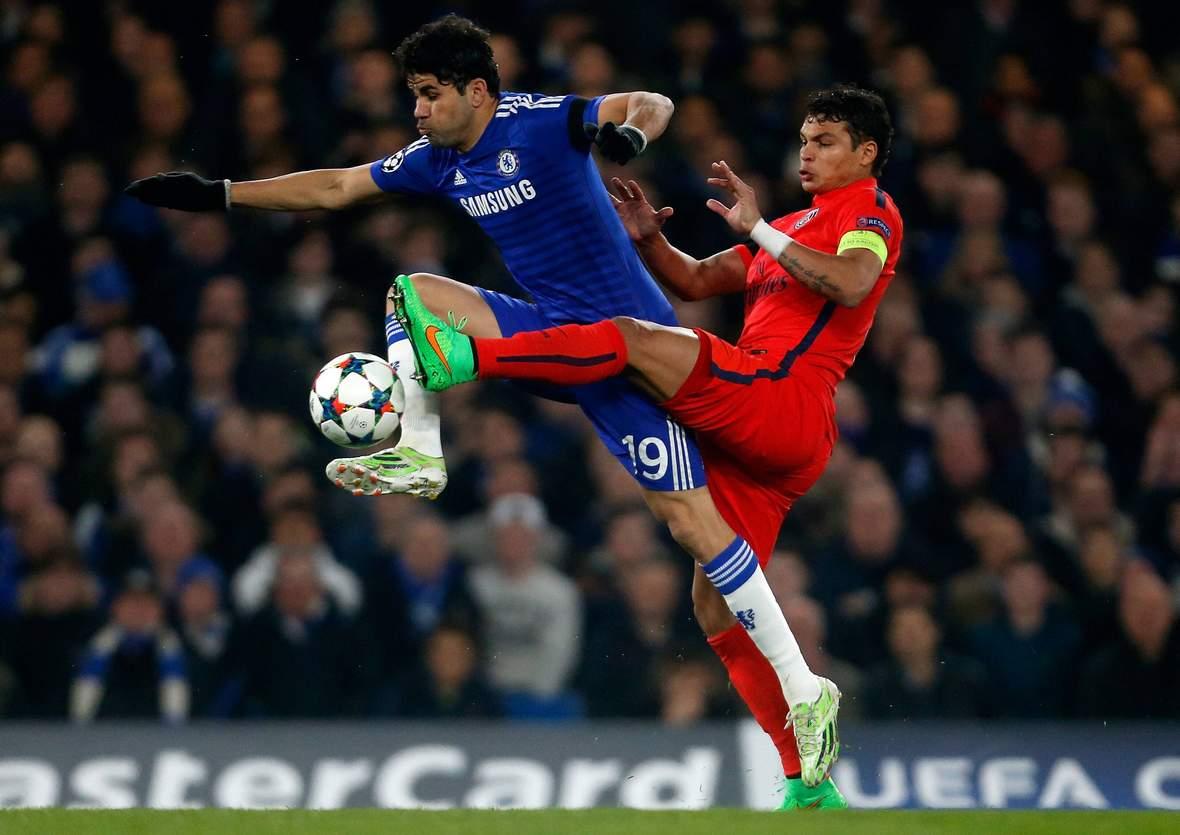 Setzt sich Diego Costa gegen Thiago Silva durch? Unser Tipp: PSG gewinnt gegen Chelsea