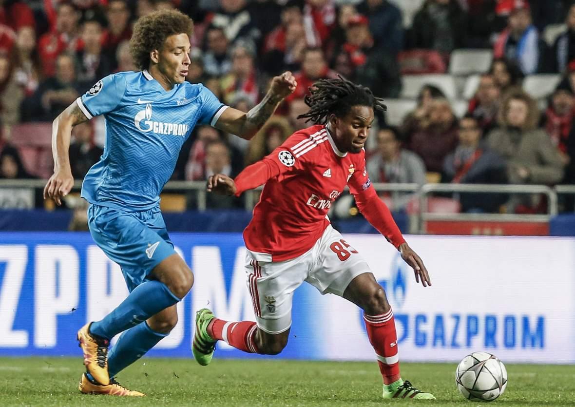Laufduell zwischen Renato Sanches und Axel Witsel. Unser Tipp: Benfica gewinnt in der regulären Spielzeit gegen Zenit.